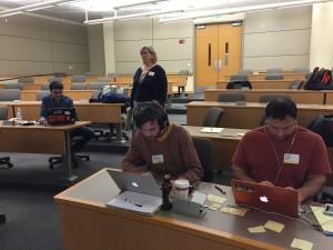 Hacking at the hackathon